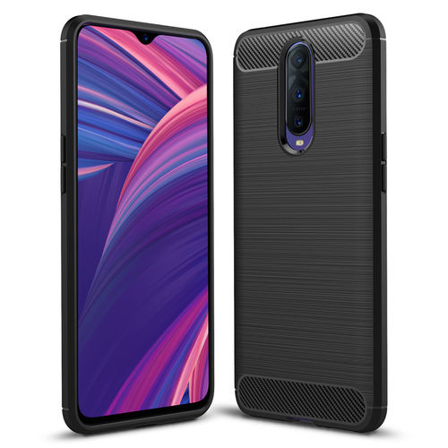Flexi Slim Carbon Fibre Tough Case for Oppo R17 Pro - Brushed Black